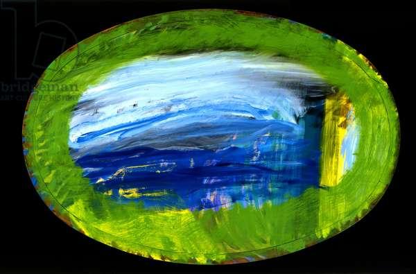 Evening Sea, 1998 (oil on wood)