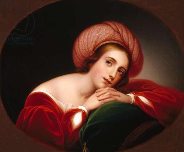 Idealized Portrait, c.1845 (oil on canvas)