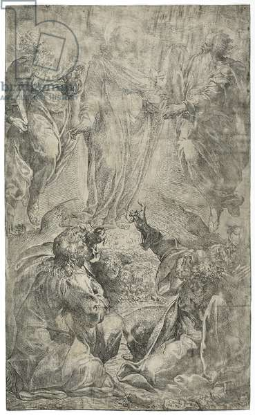 The Transfiguration, 1587-90 (etching on cream laid paper)