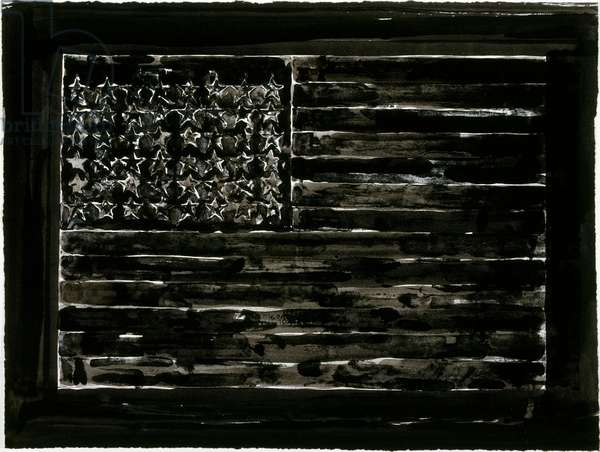 Flag, 1972/1994 (ink (1994) over lithograph (1972))