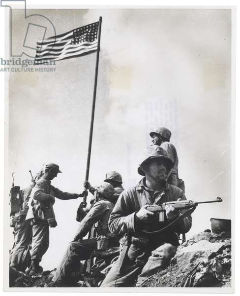 First Flag on Mt. Suribachi, February 1945 (gelatin silver print)