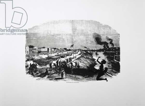 Harper's Pictorial History of the Civil War (Annotated):  Occupation of Alexandria, 2005 (lithograph and screenprint)