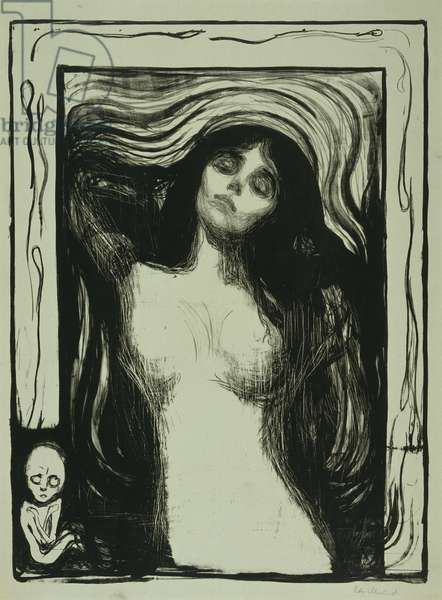 Madonna, 1895-1902 (litho on grey-green paper)