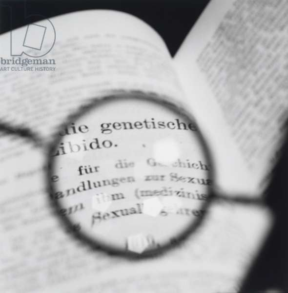 Freud's glasses--Viewing a Text by Jung, 1998 (gelatin silver print)