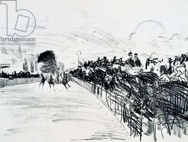 The Races, c.1865-72 (crayon litho)