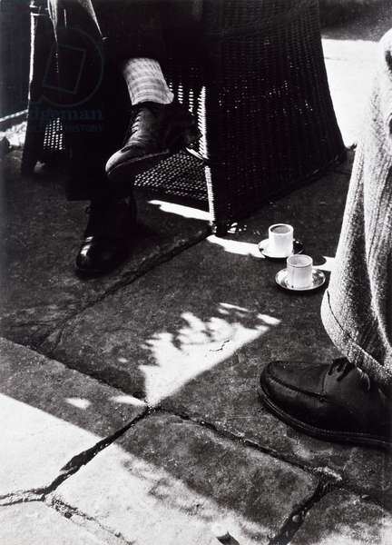 At Coffee (vintage gelatin silver photograph)