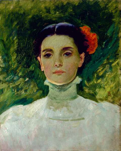 Portrait of Maggie Wilson, 1898 (oil on board)
