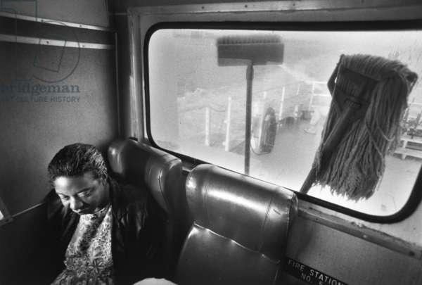 Yvonne Wilson Rides the Ferry, 1990 (gelatin silver print)