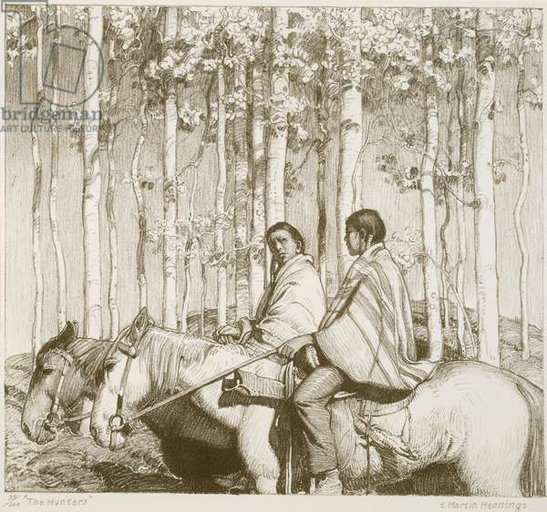 The Hunters, 1925 (litho)