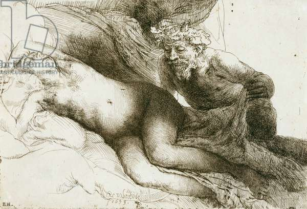 Jupiter and Antiope, 1659 (etching with burin & drypoint)