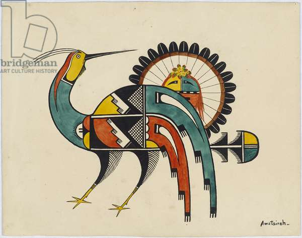 Mythical Bird, 1920-29 (tempera on wove paper)