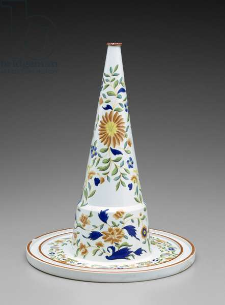 Jelly Mold Core, c. 1790-1810 (lead-glazed earthenware with overglaze enamel)