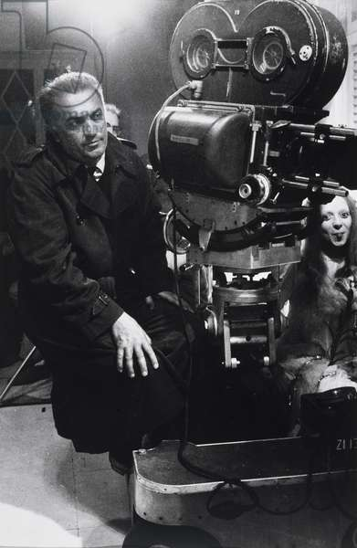 Federico Fellini and his wife, the actress, Giulietta Masina, 1950s (gelatin silver print)