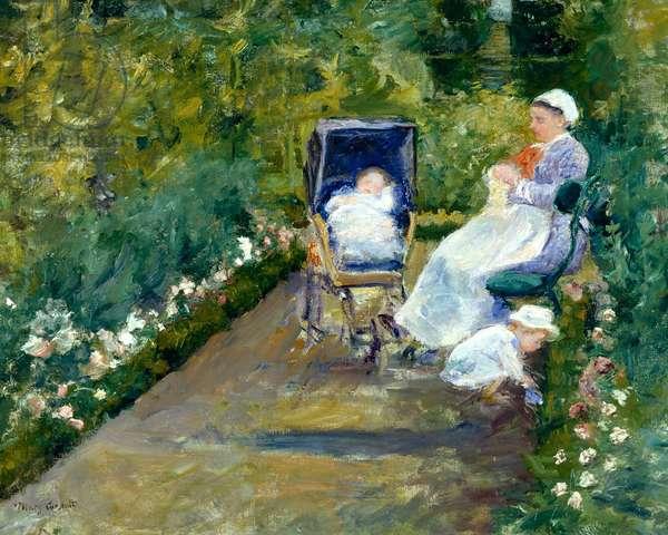 Children in a Garden (The Nurse), 1878 (oil on canvas)
