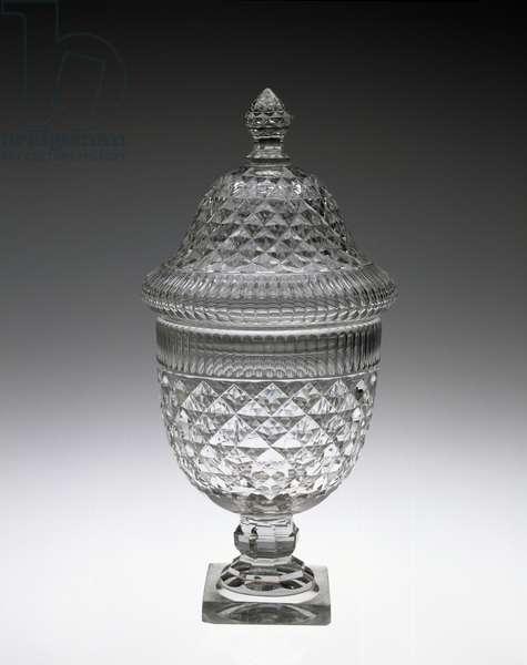 Anglo-Irish Covered Urn, 1810s (cut glass)