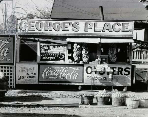 Roadside Sandwich Shop, Ponchatoula, Louisiana, 1936 (gelatin silver print)
