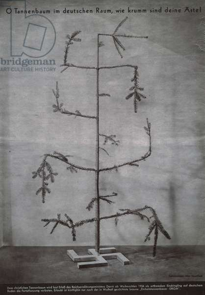 O Christmas Tree in German Territory, how bent your branches seem too be!, December 27, 1934 (rotogravure)
