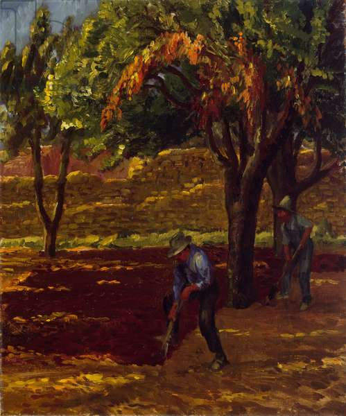 Hombres in the Garden, 1921 (oil on canvas)