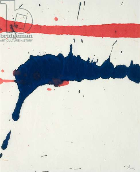 Lyric Suite, 1965 (red & blue ink on rice paper)