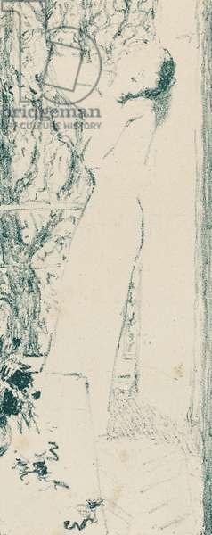 Woman by a Window, 1893 (litho)