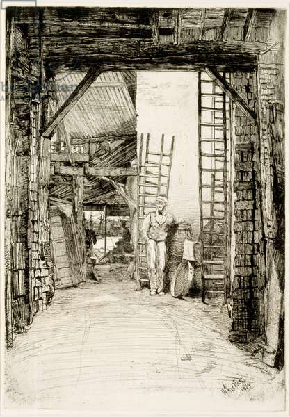 The Lime Burner, 1859 (etching & drypoint)