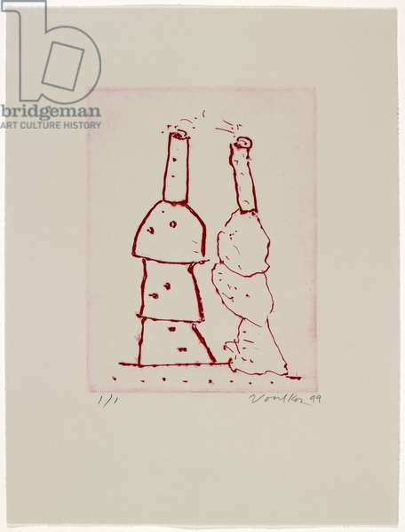 Untitled Stack, 1999 (drypoint)