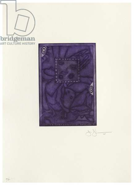 Untitled, 1995 (mezzotint in colours with chine collé on Gampi paper laid down on John Koller HMP handmade paper)