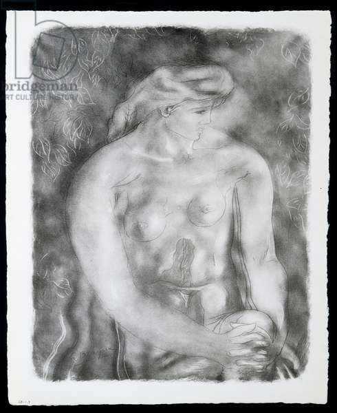 """""""Nu aux feuilles"""", published 1957 (print)"""