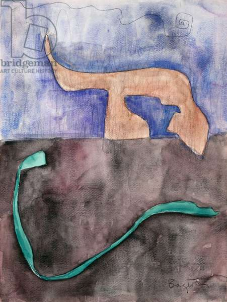 Snake, 1957 (w/c on paper)