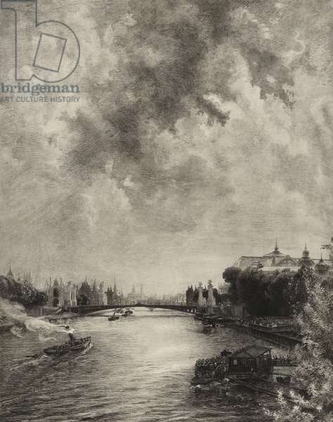 Untitled (View of the Seine), 1901 (etching)