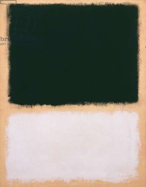 Untitled, 1968 (oil on paper mounted on canvas with acrylic painted edges)