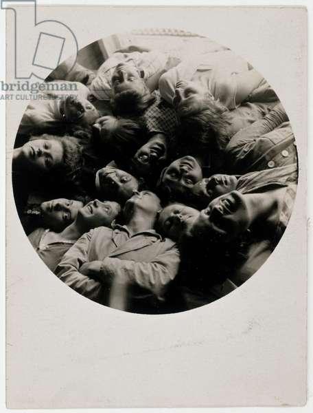 Bauhaus Weavers, 1928 (gelatin silver photograph)
