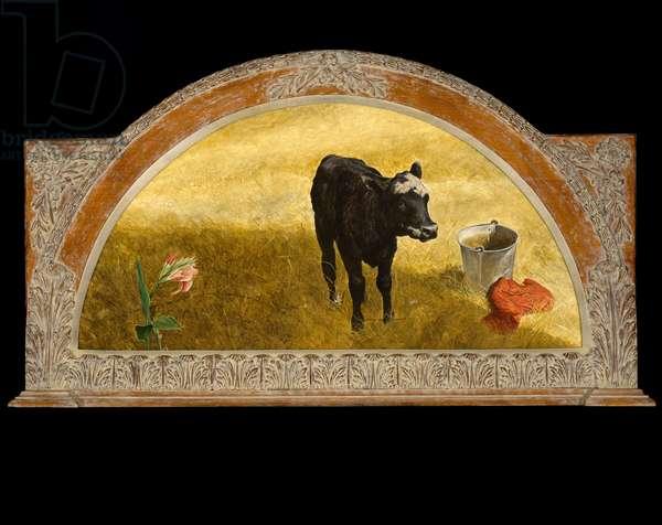 K.J.'s Calf, 1975 (acrylic on masonite panel)