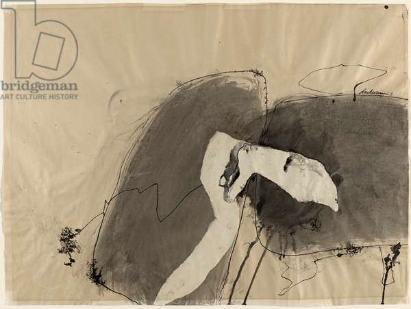 Untitled, 1963 (ink & acrylic on wove paper)
