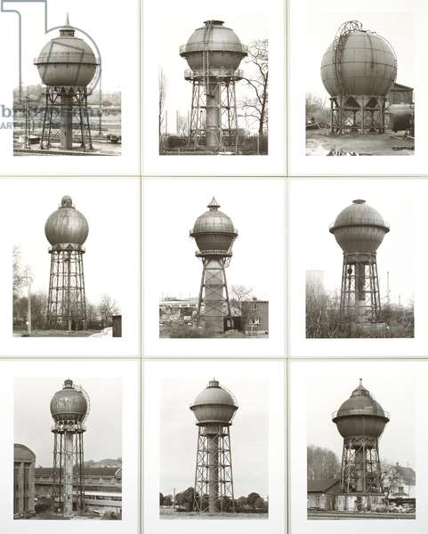 Water Towers, 1980 (gelatin silver photograph)