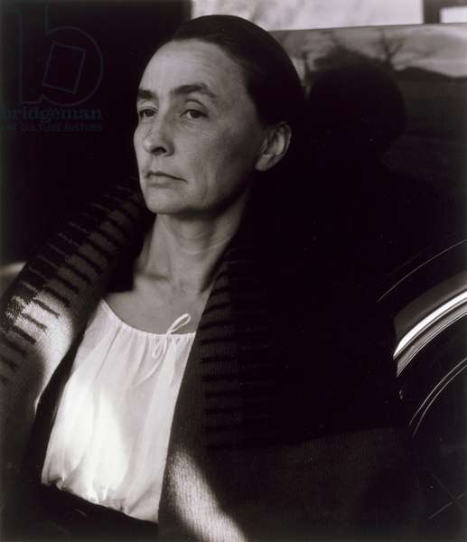 Portrait of Georgia O'Keeffe (1887-1986) 1933 (gelatin silver photo)