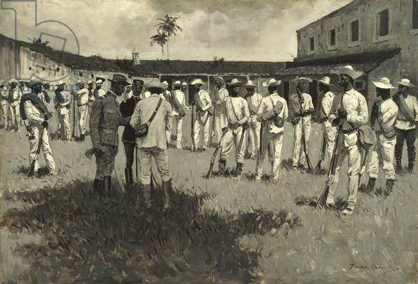 Disbanding Gomez' Army, 1899 (oil on canvas)