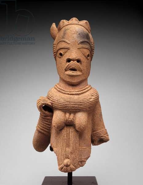 Head and torso of a female figure, Jos Plateau region, Nigeria, 500 BC-AD 200 (earthenware)