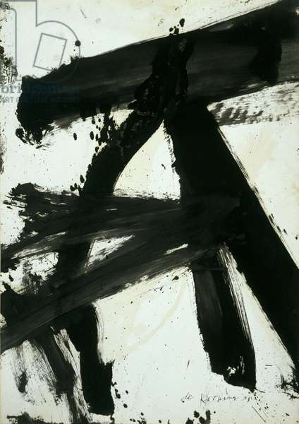 Black and White (Rome), 1959 (enamel on paper)