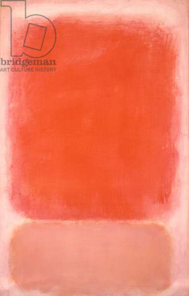 Red and Pink on Pink, c.1953 (tempera on paper mounted on board with acrylic painted surround)