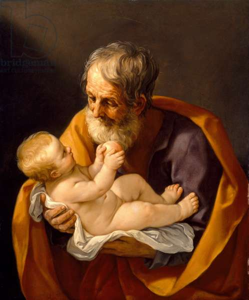 St. Joseph and the Christ Child, 1634-40 (oil on canvas)