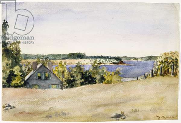 Gardiner's Bay from Sag Harbor, 1899 (watercolour on paper)