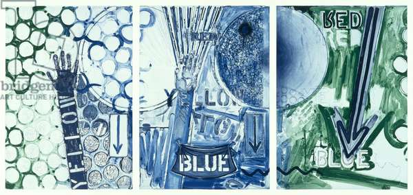 Untitled, 1998 (etching in colors (triptych))