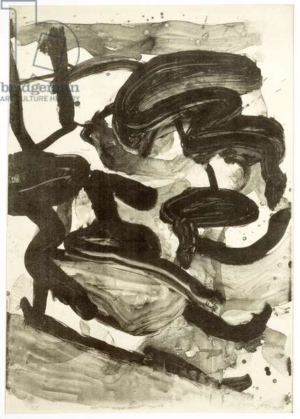 Untitled (Large Sumi Brushstrokes), 1970 (litho)