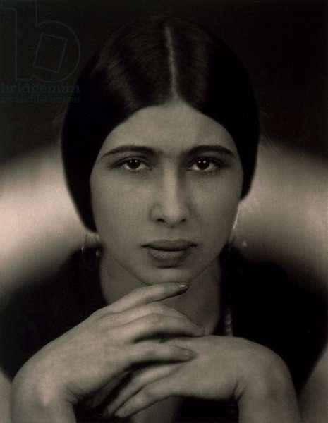 Portrait of Errina Kupferova, c.1925 (vintage silver chloride & pigment photograph)