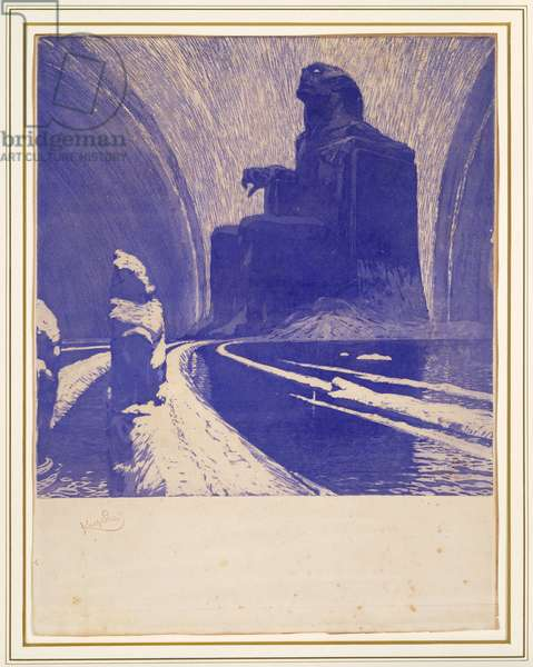 Black Idol or Defiance, 1900 (colour aquatint)