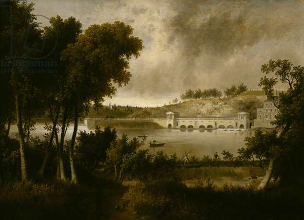 View of the Fairmount Waterworks, Philadelphia, from the Opposite Side of the Schuylkill River, c. 1824-1826 (oil on canvas)