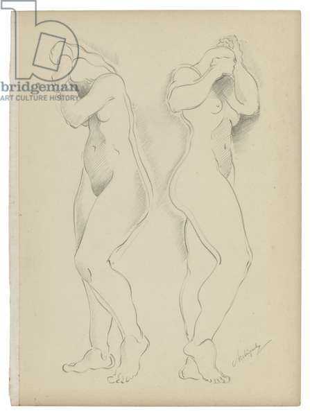 Untitled V, c. 1921-1923 (graphite on paper)