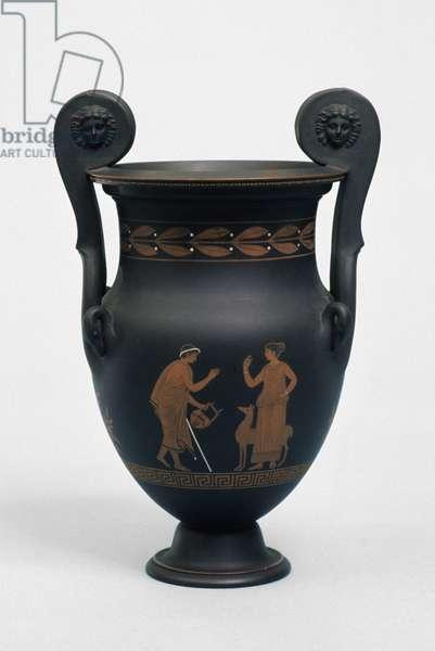 Vase, c. 1780-1820 (unglazed stoneware)