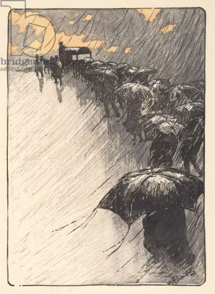 The Burial at Trestraou, 1891 (woodcut)